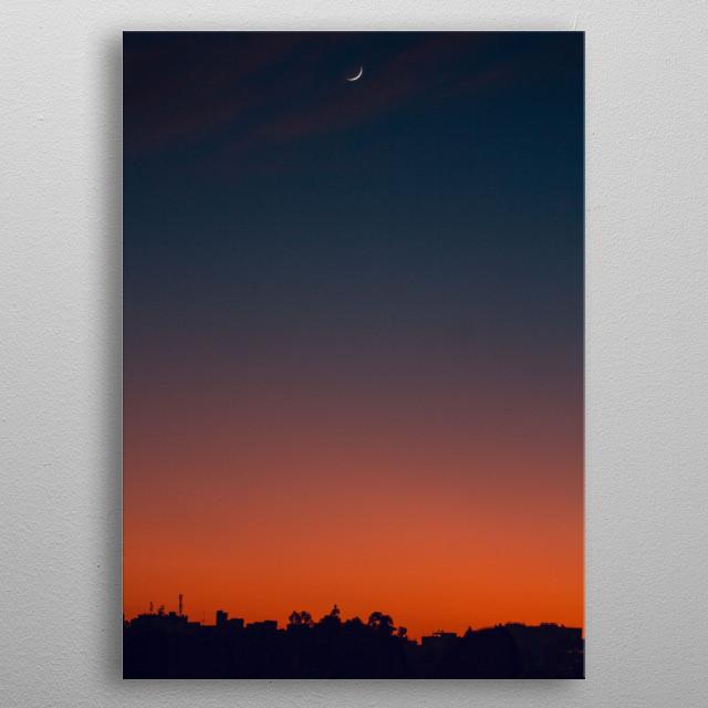 A minimalist photo, showcasing a sky gradient.  metal poster