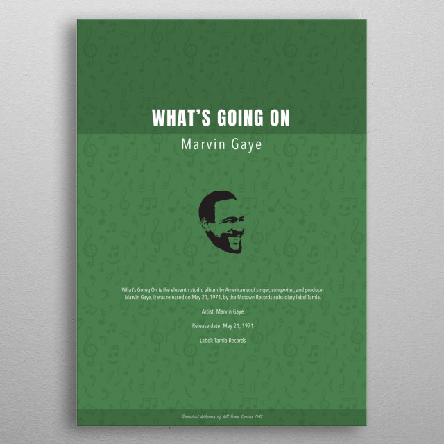 Whats Going On Marvin Gaye Album metal poster