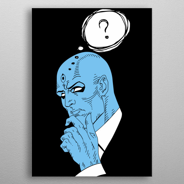 Artwork inspired by Dr. Manhattan from Watchmen. metal poster