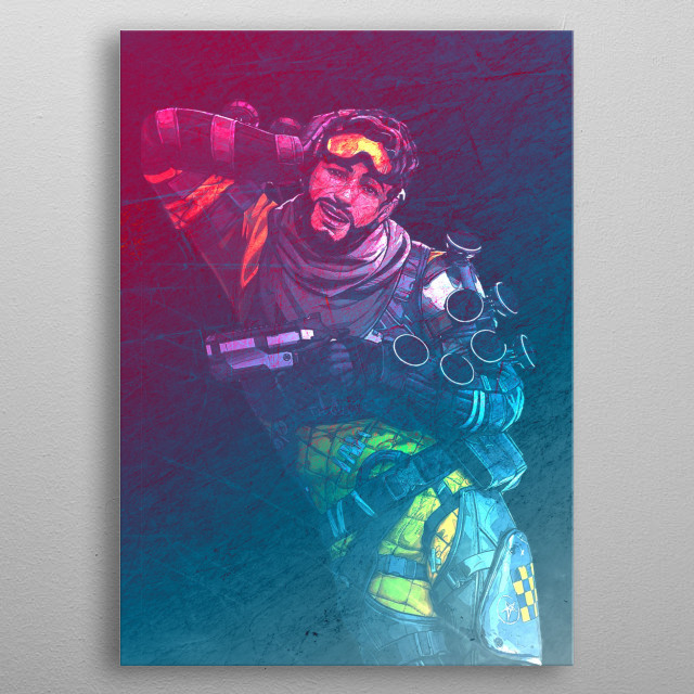 Apex Legends Battle Royale Game Character Poster metal poster