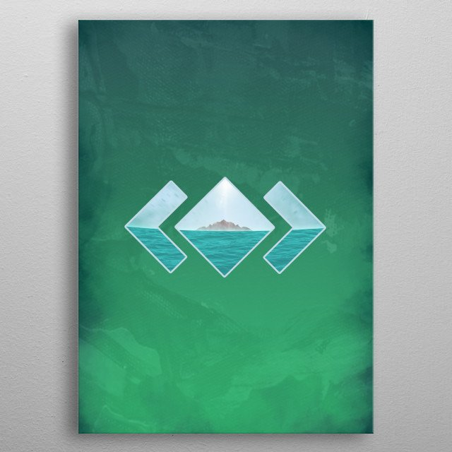 Take yourself in this last trip to paradise. metal poster