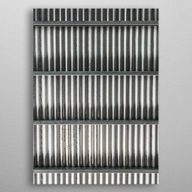 Corrugated metal. A photo of texture taken by an artist who pursues minimal presentation of underappreciated details of our surroundings. metal poster