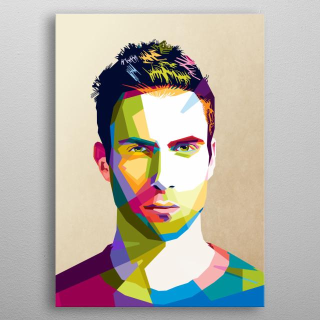 Adam Levine on pop art  metal poster