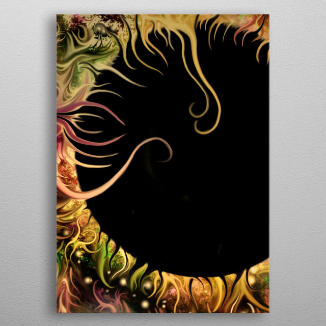 Cosmos End 3, 3 piece artwork  metal poster