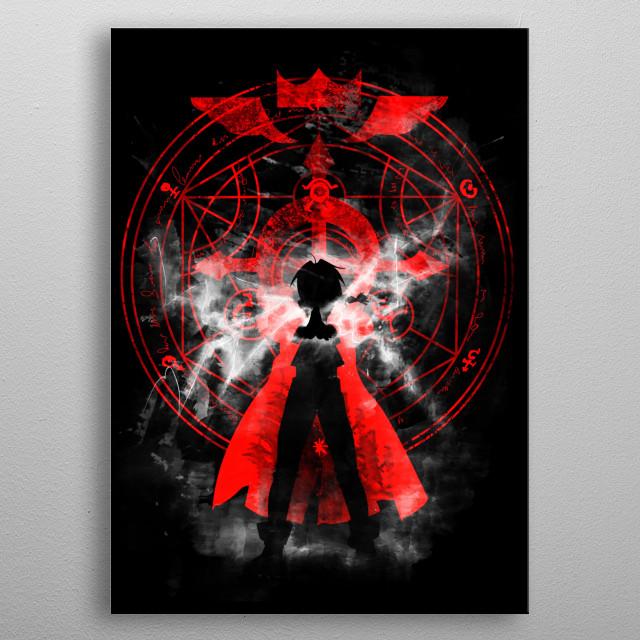 Design inspired by Full metal alchemist metal poster