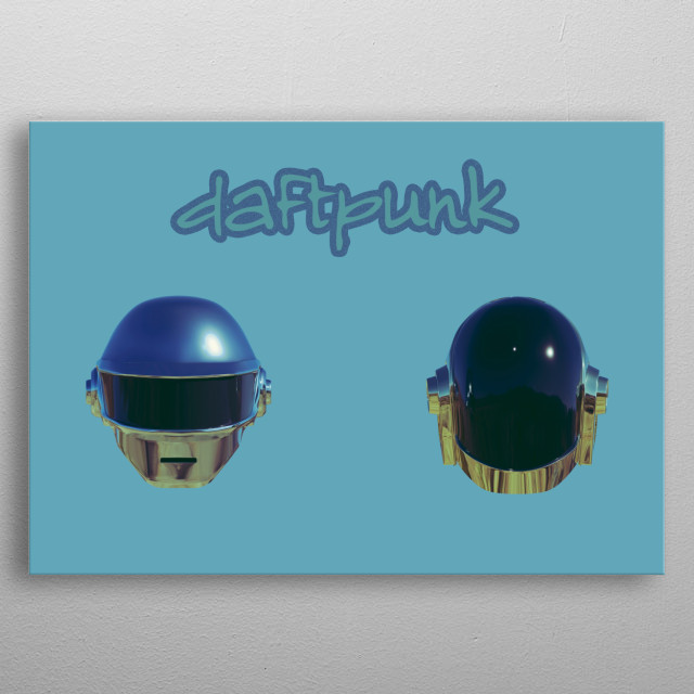 This Is an artwork of an old music band called Daftpunk  metal poster