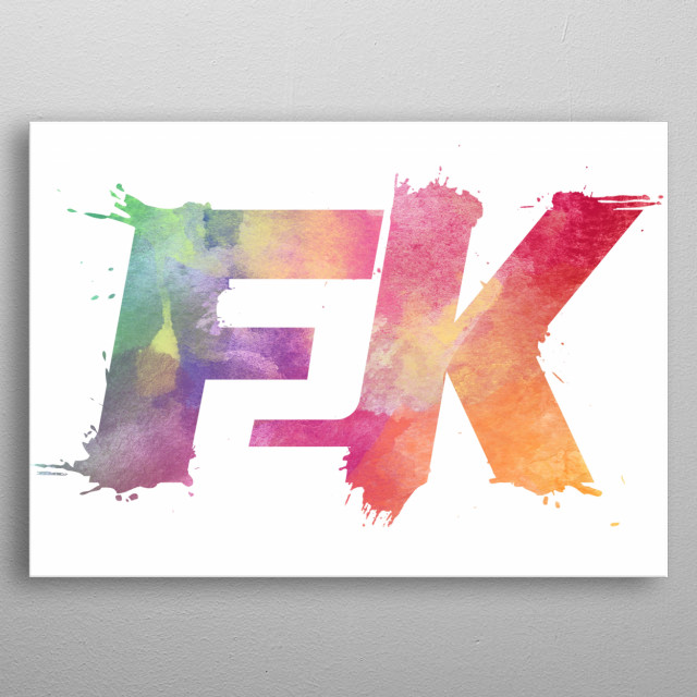 Top tier watercolour F2K Logo, now on a displate! metal poster