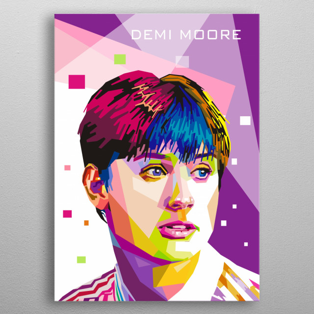 Demi Moore is an American actress, former songwriter, and model metal poster