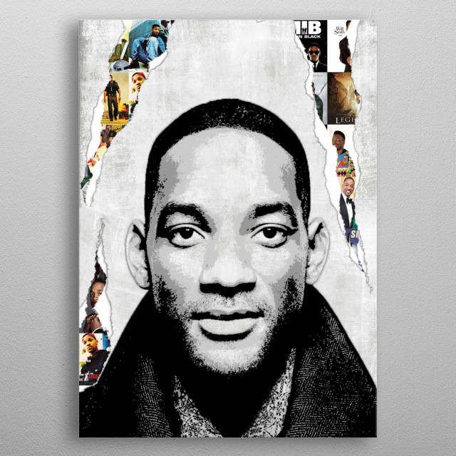 Illustration of Will Smith metal poster