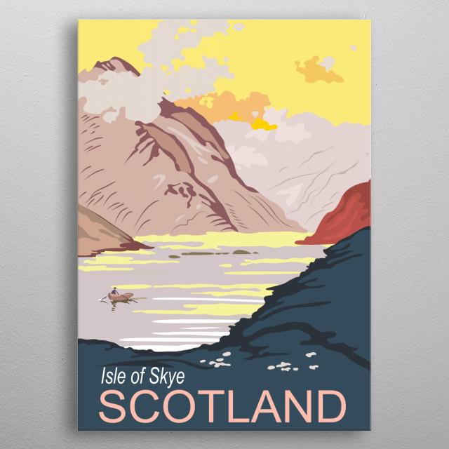 Scotland, Isle of Skye. Vintage travel poster metal poster