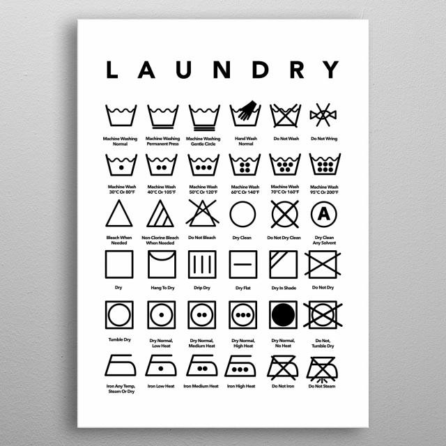 Laundry Room Decor Printable Art  metal poster