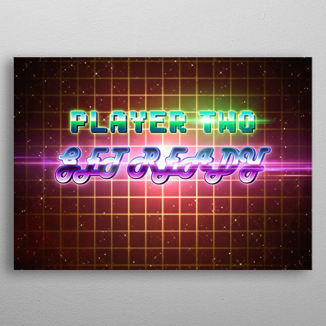 Back to the 80's arcade style. metal poster
