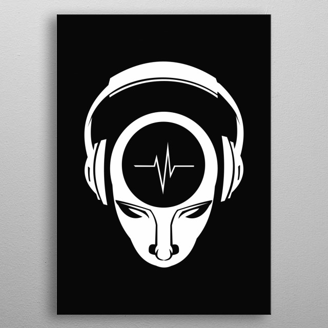Simple graphic dedicated to all the listeners out there. metal poster