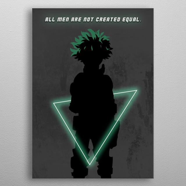 Izuku Midoriya (Deku) from My Hero Academia (Boku No Hero) metal poster