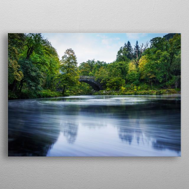 Swirling Dreams  River Llugwy, Betws Y Coed, North Wales. metal poster