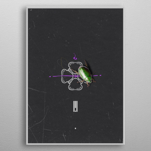 Aliens Have Visited Earth metal poster