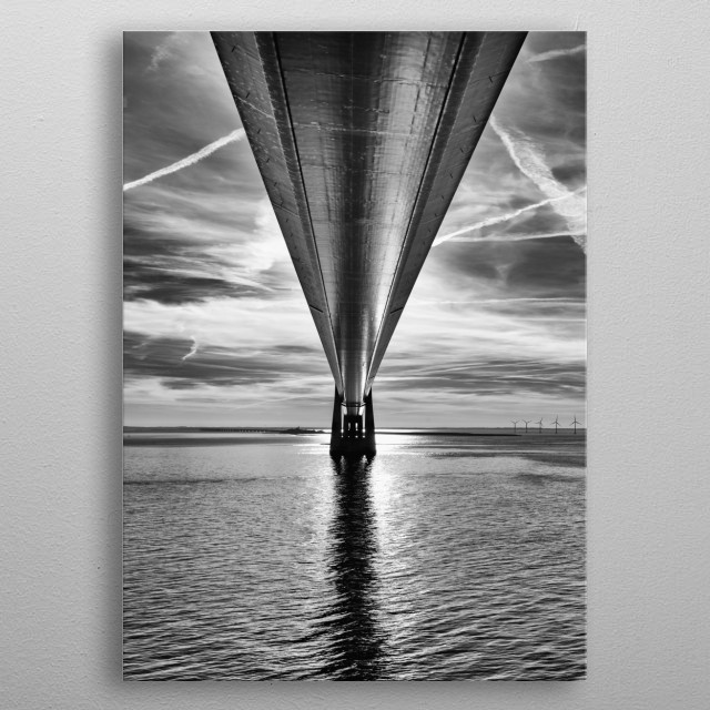 Foto of the Storebælt-Bridge Denmark metal poster