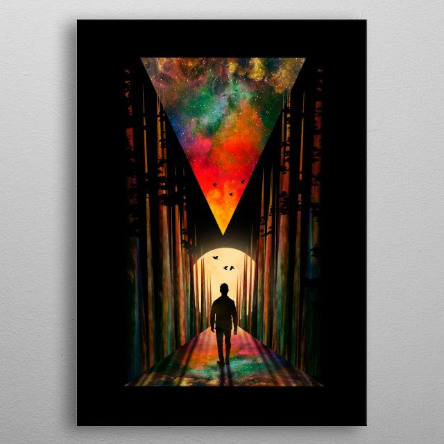 I love sunset and geometric shapes. metal poster