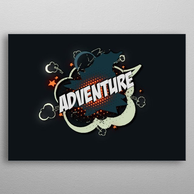 Ready for Adventure? Toon style 'Adventure' artwork. metal poster