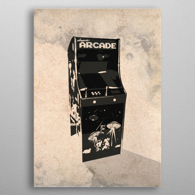 Arcade Illustration metal poster