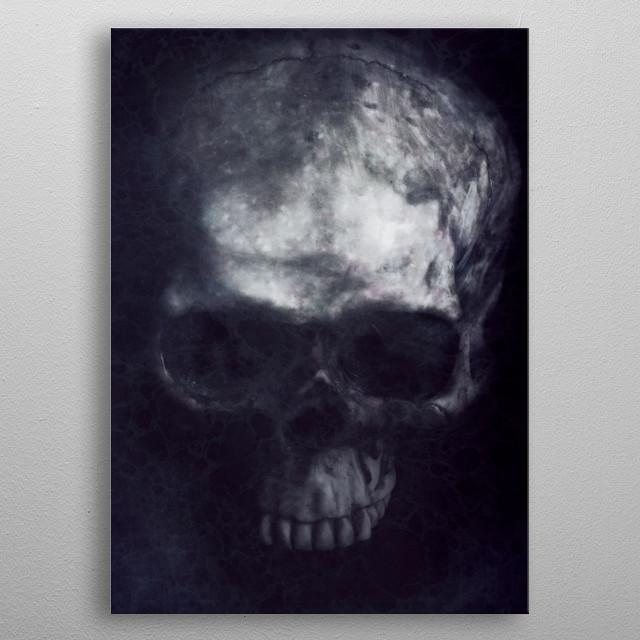 Skull Digital Art metal poster