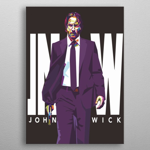 Keanu Reeves is a film actor who generally starred in Hollywood films such as John Wick metal poster