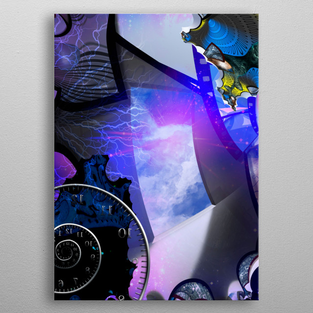 Symbolic surreal composition. Portal to Eternity metal poster