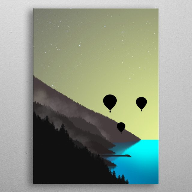 Get Inspired with a beautiful Sunrise on a bay! metal poster