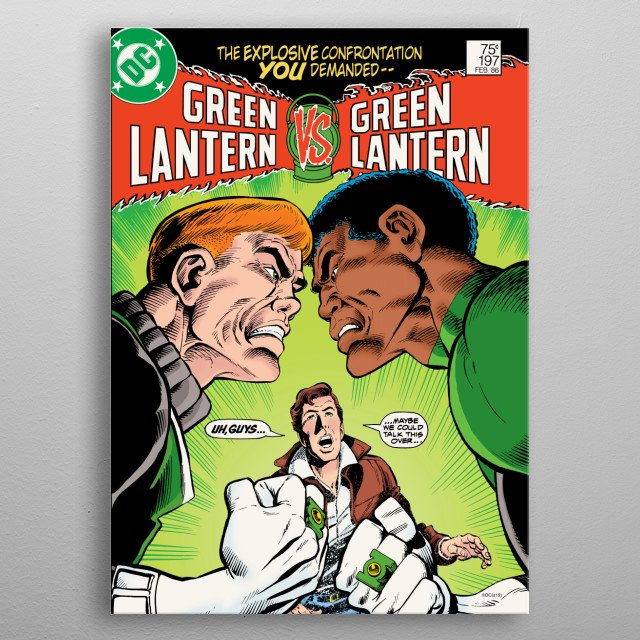 High-quality metal print from amazing Green Lantern collection will bring unique style to your space and will show off your personality. metal poster