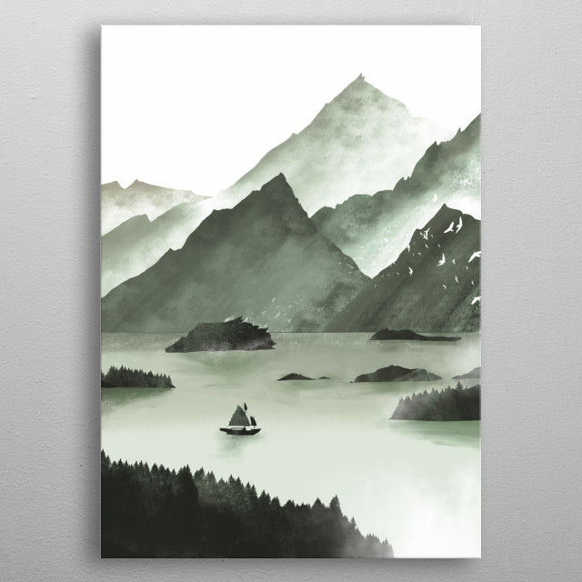 Mininmalistic Nature collection metal poster