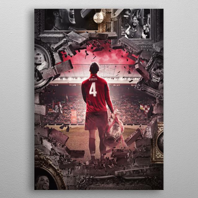 The Wall of Champions | Virgil van Dijk metal poster