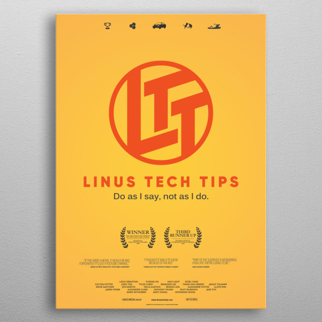 Linus Tech Tips Channel Poster metal poster