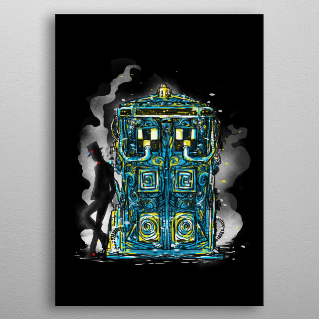 somewhere in a relative space and  time dimension  metal poster