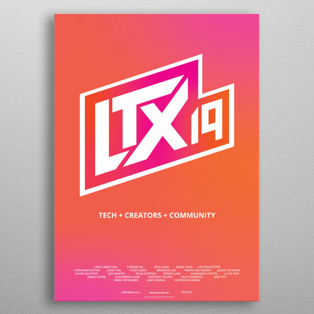 Here's a poster celebrating our LTX Expo 2019 event! metal poster