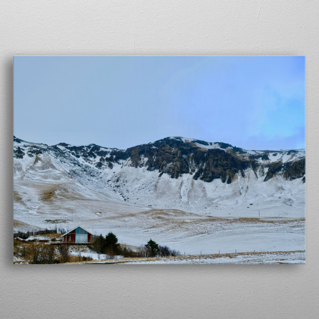 Shot of the Icelandic wilderness.  metal poster
