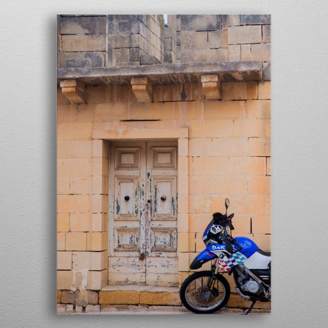 Doors of Malta, Europe   Image by Chantelle Flores    metal poster
