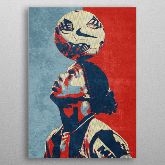 is a Brazilian former professional footballer and ambassador for Barcelona.[4] He played mostly as an attacking midfielder,and winger metal poster