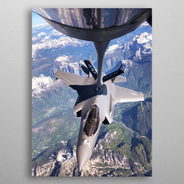 Refueling F-35 Lightning II metal poster
