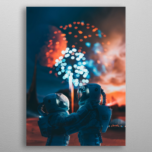 Where there is Love, there is Life 🧡 metal poster