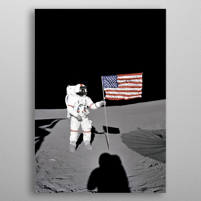 This cool design is based on an image released by NASA to public domain. metal poster