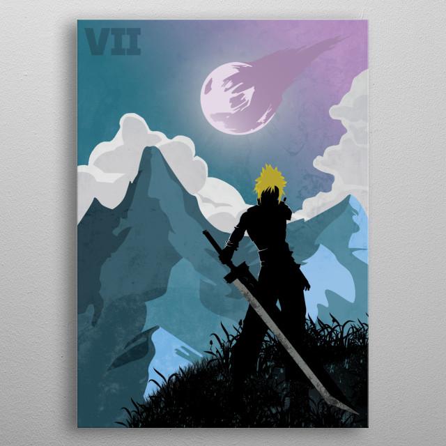Illustrastion inspired by Final Fantasy 7 metal poster