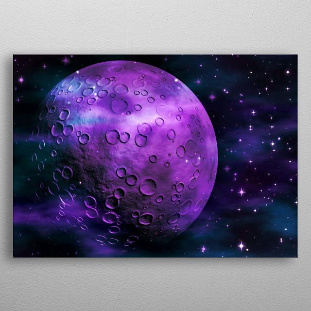 Planet Galaxy 3 purple metal poster