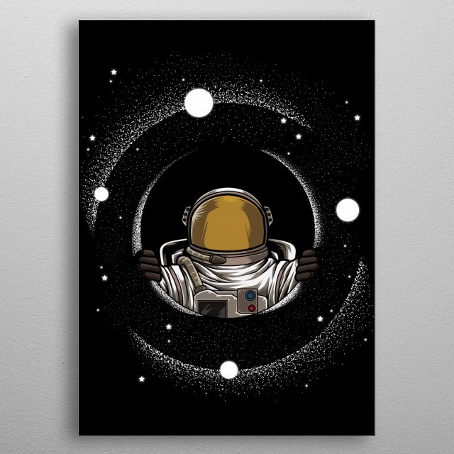 This great universe design is the perfect gift for every rocket enthusiast and science fiction enthusiast. metal poster