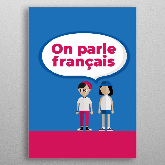 We speak french metal poster