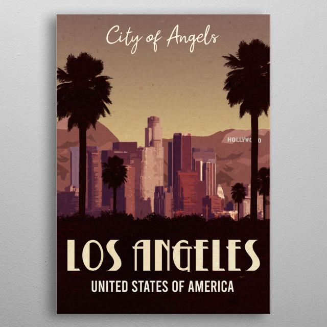 Los Angeles United States of America Vintage Poser metal poster