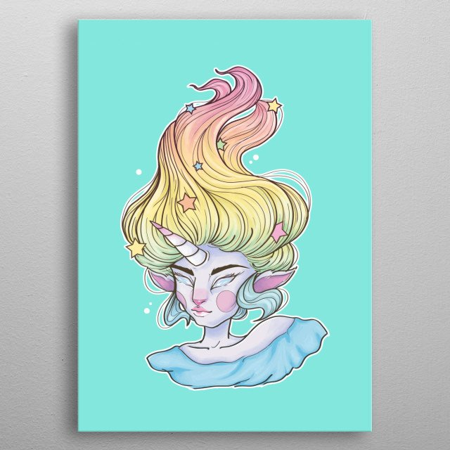 One of my first digital illustrations, inspired by my love for candy and pastel colours. metal poster