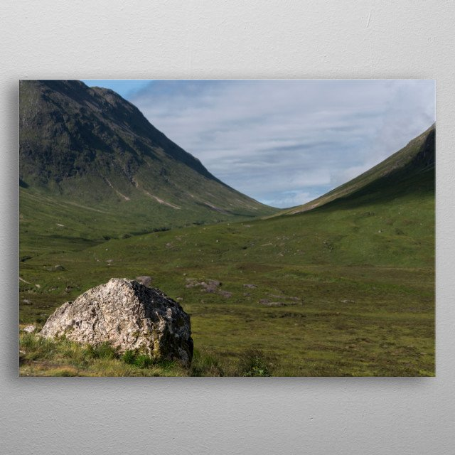 Glencoe is steeped in Scottish history and lies in the Highlands of Scotland, famed for its beautiful and dramatic landscapes  metal poster
