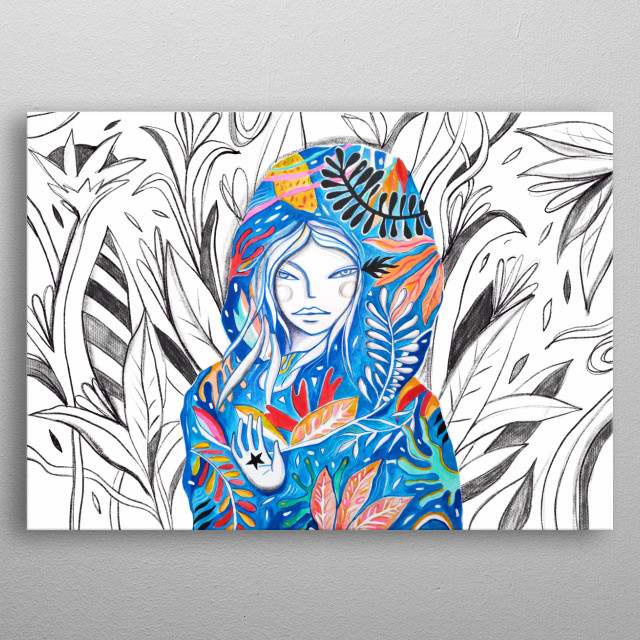 Illustration insipired by the beauty of the nature and its magic  power. metal poster