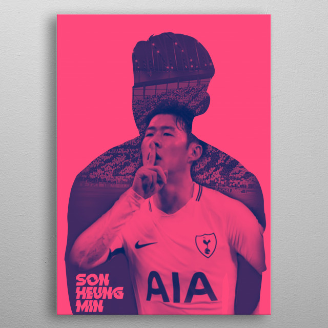 Son heung min Colorful Artwork metal poster