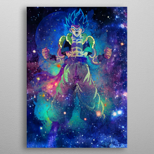 Galaxy design of the fusion metal poster